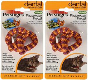 Petstages (2 Pack) Catnip Plaque Away Pretzel