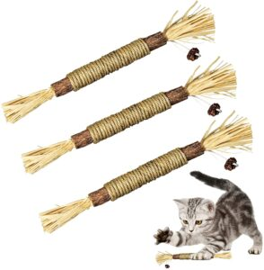 Silvervine Sticks chewable Cat Toys for Indoor Cats