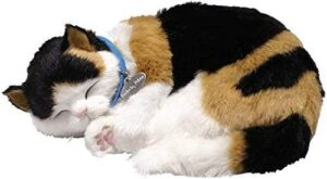 Calico Cat Realistic, Lifelike Stuffed Interactive Pet Toy